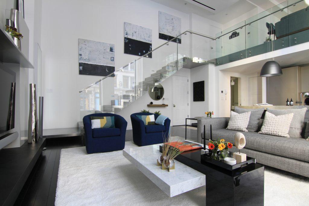 New York City Pied-à-terre Living Room   Art in Interior Design