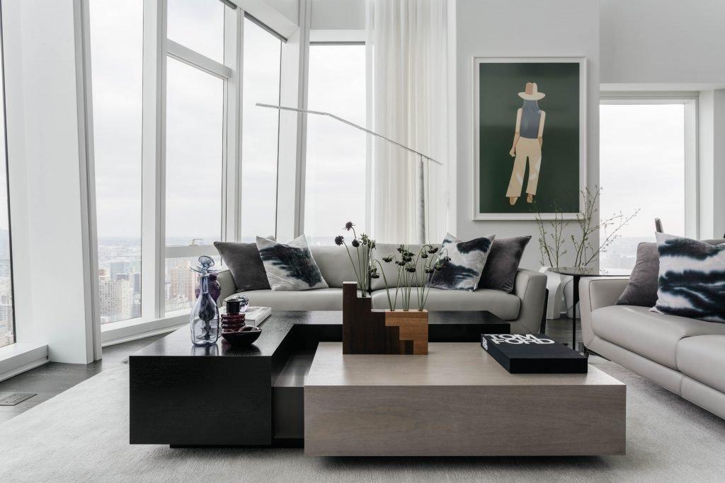 Madison Square Park Tower Living Room Interior   Art in interior design